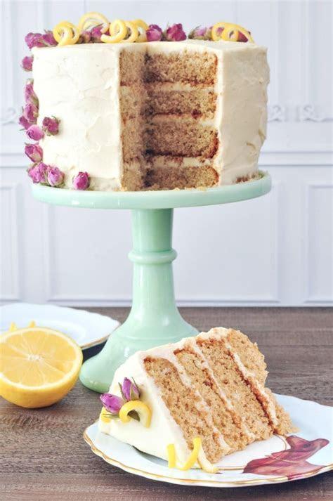 Lemon Elderflower Layer Cake Vegan Royal Wedding Brunch