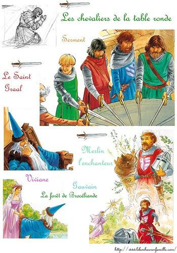 Fiche chevaliers de la table ronde et Viviane