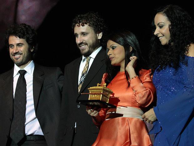 Eriberto, Leonardo Gonçalves, Damares e Cristina Mel  (Foto: Rudy Trindade/G1)