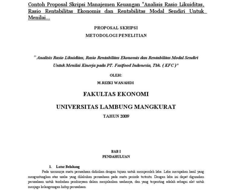 Contoh Soal Dan Materi Pelajaran 9 Contoh Skripsi Ekonomi Pdf