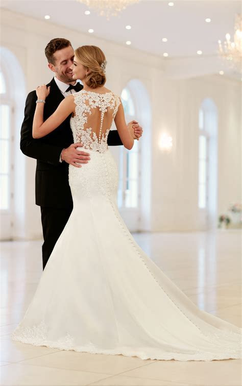 Wedding Dresses   Elegant Sparkling Fit and Flare Gown