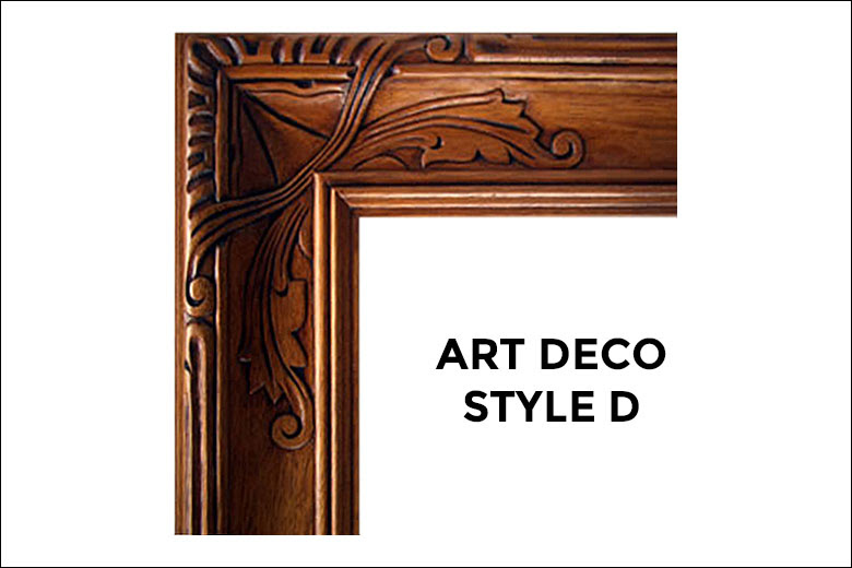 Art Deco Frames Liberty Carvings