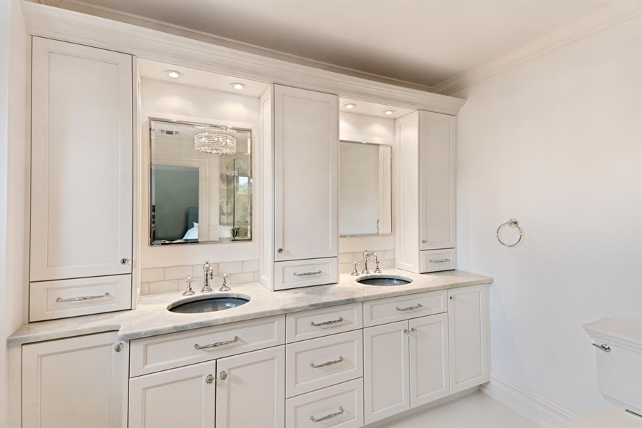 Cabinets on Counter Master Bath Vanity in Monmouth County ...