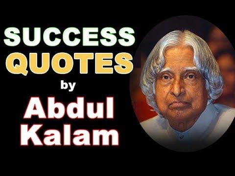 Abdul Kalam Quotes Success Quotes By Dr Apj Abdul Kalam Youtube