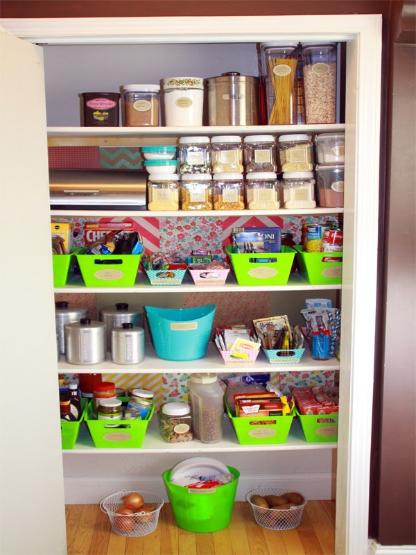 Budget Friendly and Colorful Pantry Makeover