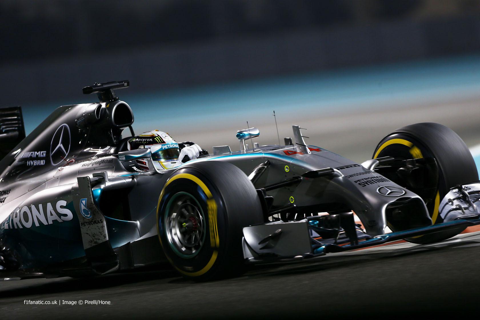 Lewis Hamilton, Mercedes, Yas Marina, 2014 · F1 Fanatic