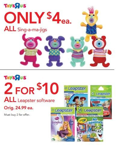 toys r us Toys R Us Labor Day Sale: Leapster Games $5 ea and more!
