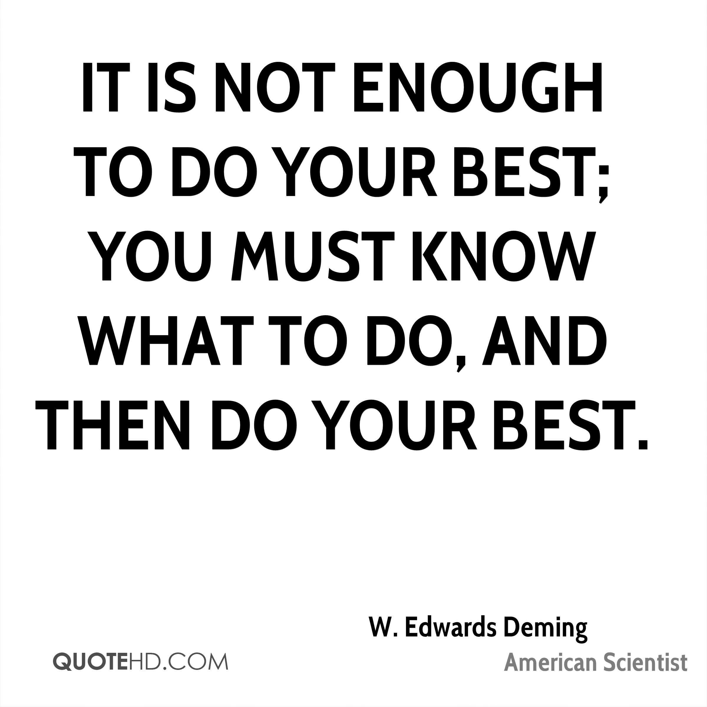W Edwards Deming Quotes Quotehd