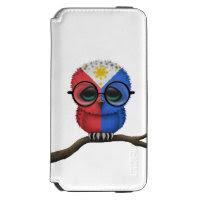 Customizable Nerdy Filipino Baby Owl Chic Incipio Watson™ iPhone 6 Wallet Case
