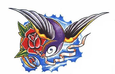 Whimondifa Love Birds Tattoo