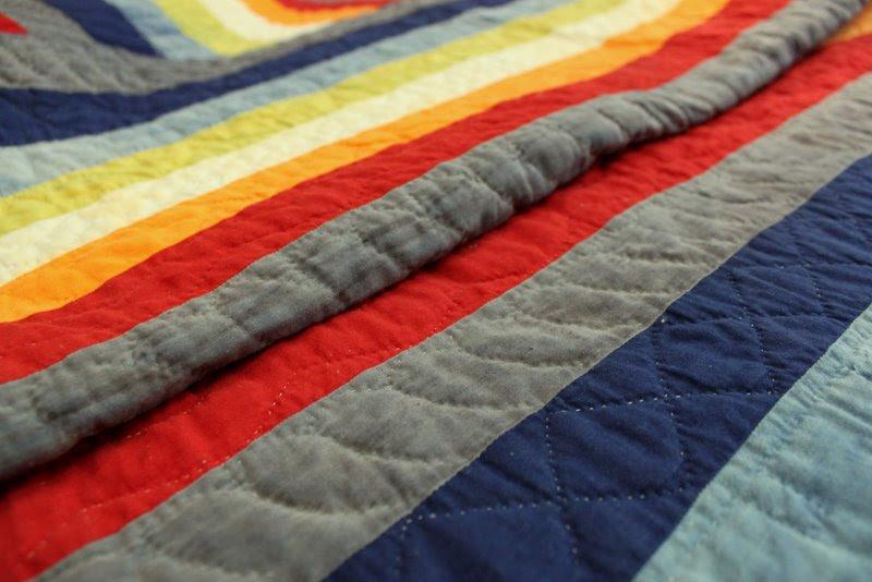 Antique striped quilt