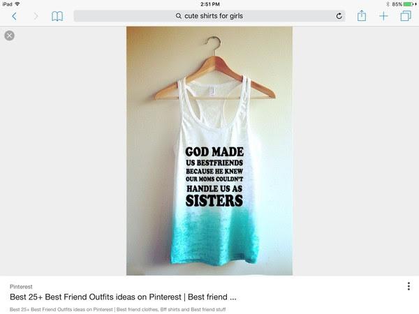 God Made Us Bestfriends Quotes Tanktop Kirana Jaya
