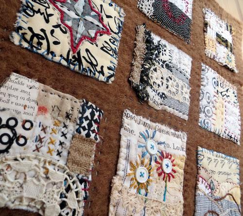 text on textiles: Go West