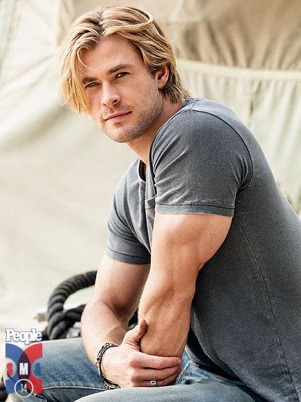 Chris Hemsworth em ensaio para a revista People: o mais sexy do mundo