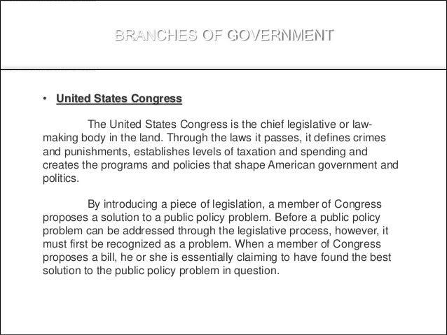 Legislation and health care policy
