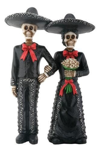 Mariachi Couple Day of the Dead Wedding Cake Topper