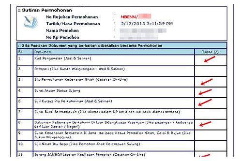Borang Nikah Johor Perempuan