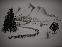 Mountainscape - Ink on paper 2008