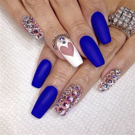 royal blue nails designs (7)   How to organize