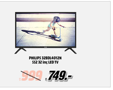 PHILIPS 32BDL4012N SS2 32 inç LED TV 749TL