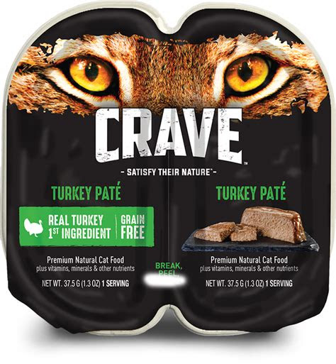 turkey pate high protein wet cat food crave