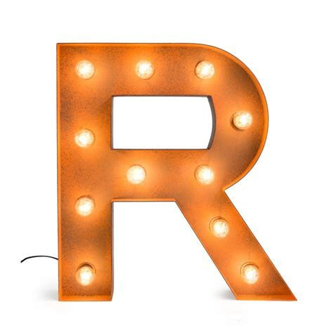 Letter R with Light Bulb   Reallynicethings