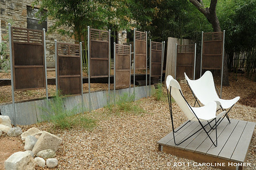 A/C screen panels make a nice fence