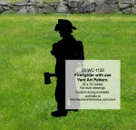 Firefighter with axe Yard Art Woodworking Pattern - fee plans from WoodworkersWorkshop® Online Store - firefighting,firefighters,shadow art,yard art,yard art,painting wood crafts,scrollsawing patterns,drawings,plywood,plywoodworking plans,woodworkers projects,workshop blueprints