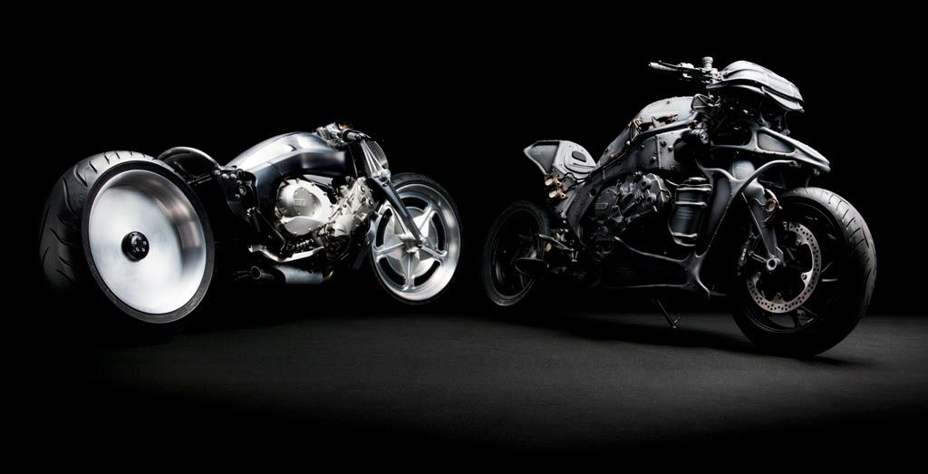 As duas criações de Nagai e Kawakita: algo lembra uma BMW K 1600 GTL?