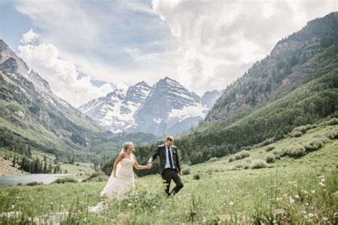 This Maroon Bells Amphitheatre Wedding Proves That