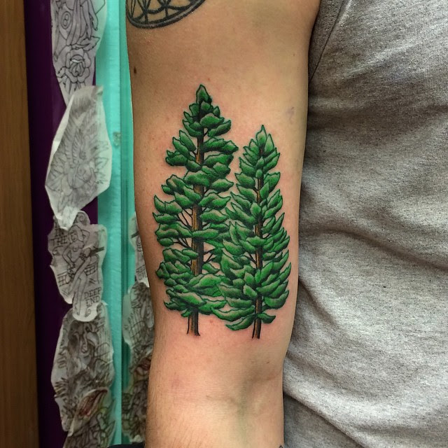 75 Simple And Easy Pine Tree Tattoo Designs Meanings 2018
