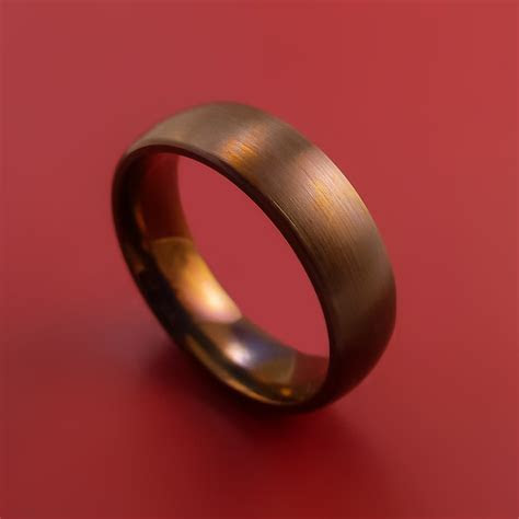 Titanium and Bronze Band Custom Made Ring to Any Sizing