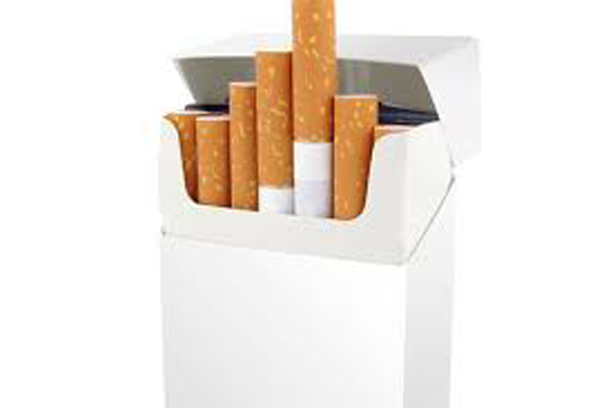 Colourless packaging for tobacco products