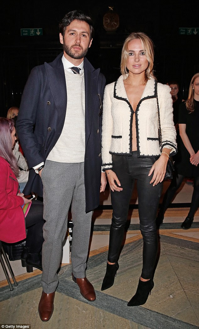 Fashionable friends: Freddie and Kimberley made for a dapper duo at the stylish event