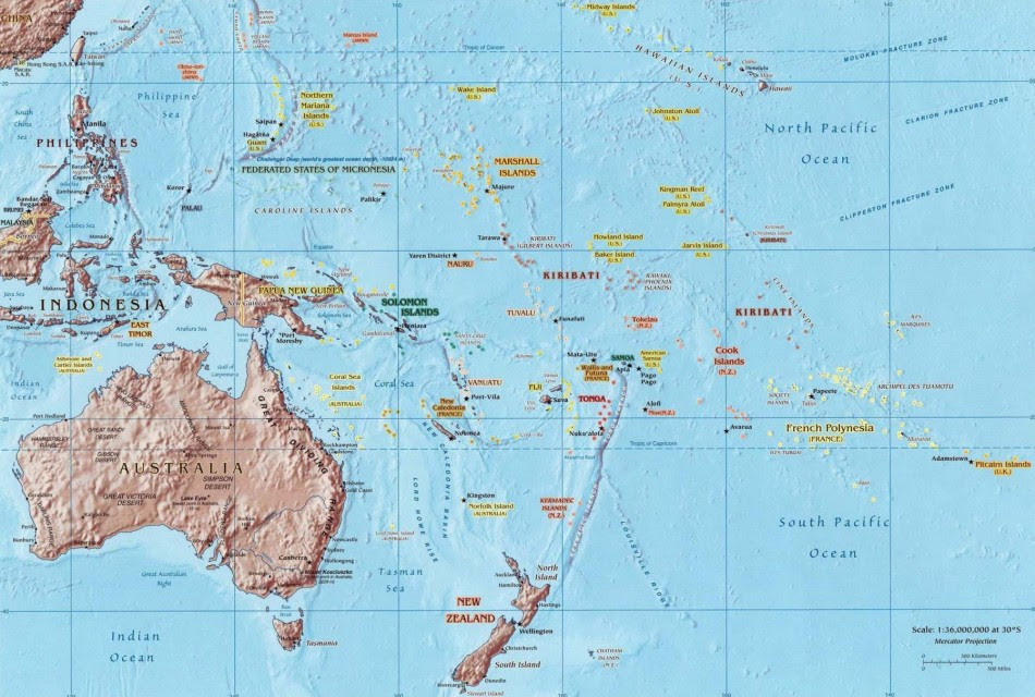 South Pacific Map World Map ~ CINEMERGENTE