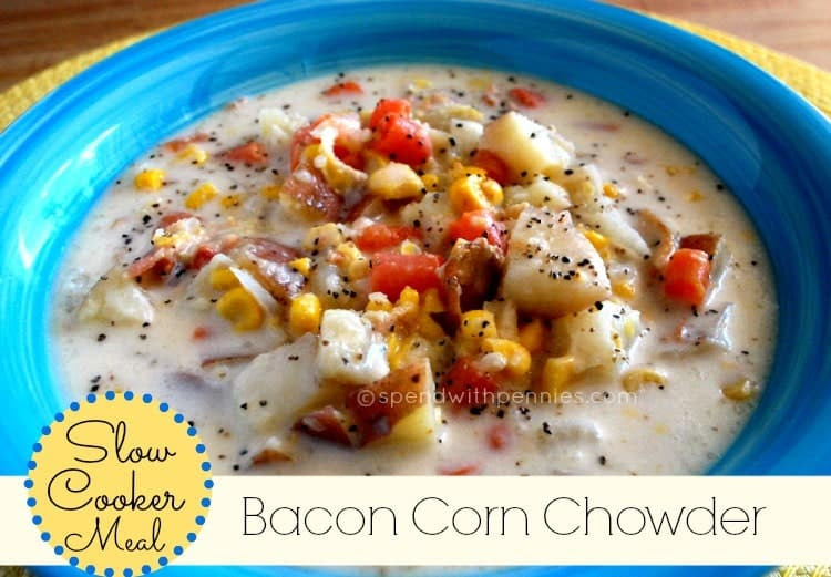 Slow Cooker: Creamy Bacon Corn Chowder