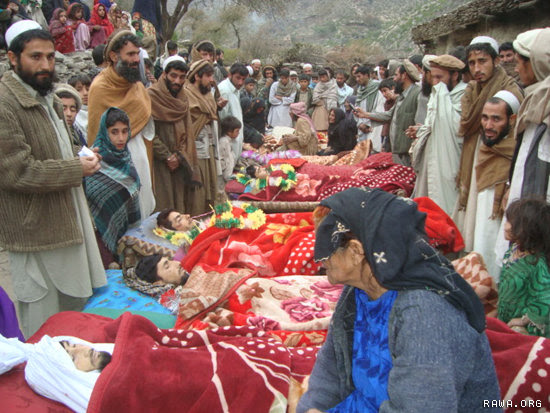 Villagers and relatives and parents of the victims are mourning. The woman seen in the photo is mother of three of the victims.