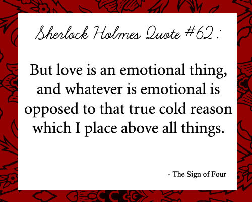 Sherlock's thoughts on love