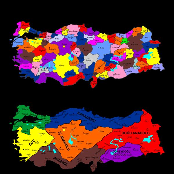 Türkiye Haritası Vektör Indir Turkish Map Vector Svg