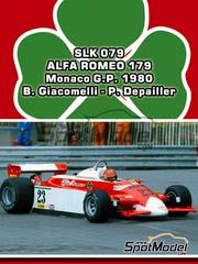 Tameo Kits: Maqueta de coche escala 1/43 - Alfa Romeo 179 Marlboro Nº 22, 23 - Bruno Giacomelli (IT), Patrick Depailler (FR) - Gran Premio de Monaco 1980 - maqueta de metal