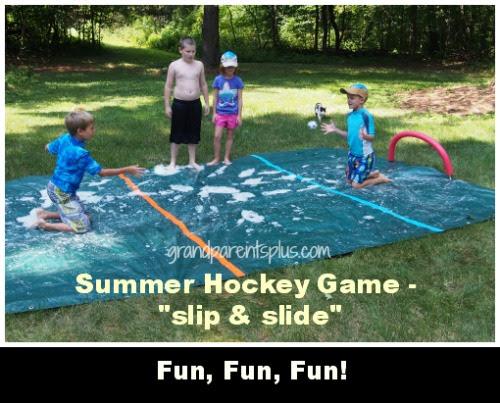 Oma and opa Camp Summer Hockey Game 2 Summer Hockey Game
