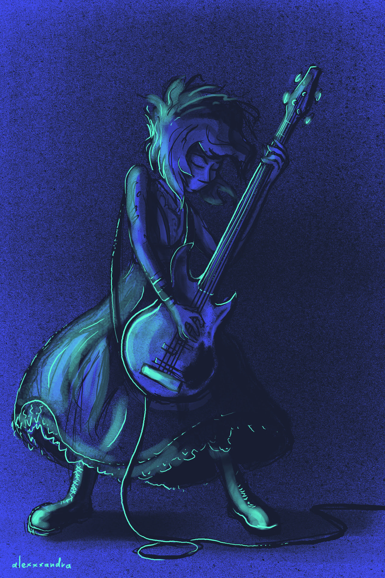 Recently I have found out about a Swedish metal band named Lapis Lazuli, and I just felt obligated to draw this. Why does Tumblr change colors of a file so much (as in a third photo), that I have no...
