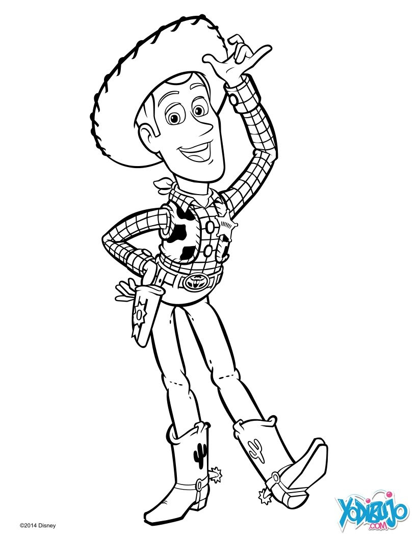 Dibujos Para Colorear Woody De Toy Story Es Hellokids Com