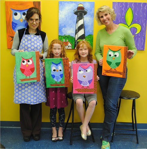 Canvas Owls