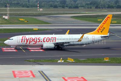 Pegasus Asia (Pegasus Airlines and Air Manas) (flypgs.com) Boeing 737-82R WL TC-AVP (msn 38175) DUS (Pedro Baptista). Image: 912509.