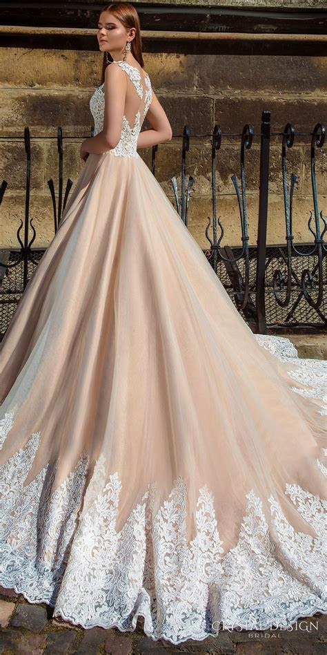 Crystal Design 2016 Wedding Dresses   Champagne colour