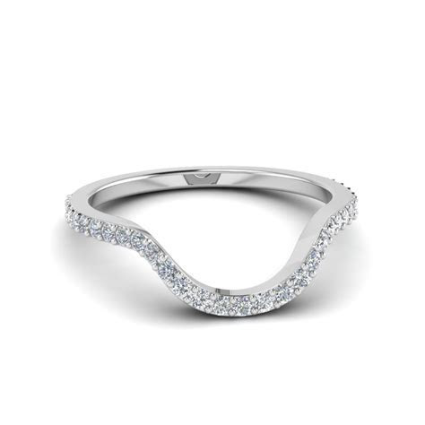 Women Diamond Curved Custom Wedding Band In 950 Platinum