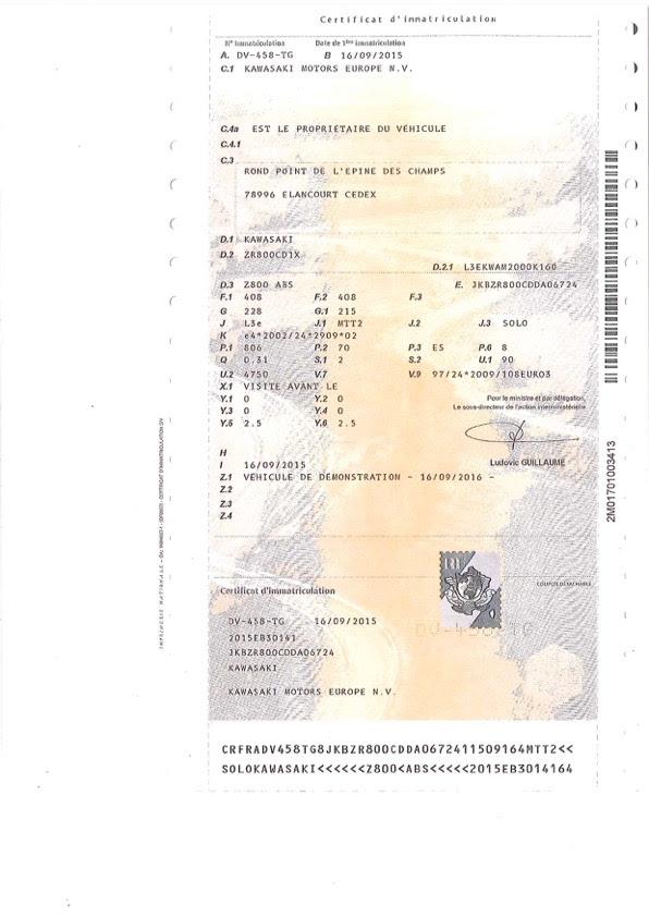 Le Certificat Dimmatriculation Ou Carte Grise