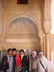 Bersama Azreen, Niesa & Nazeera Dalam Palacio Nazaries di Alhambra, Granada, Spain