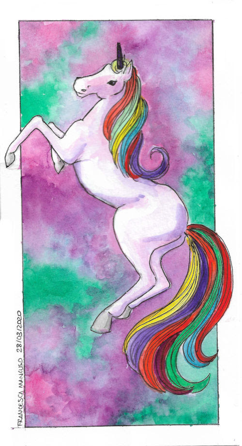 Francesca Mancuso - Unicorn - Watercolour